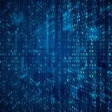 Ström av den binära koden Bakgrund för begrepp för abstrakt digital binär matrisnummerteknologi futuristisk vektor stock illustrationer