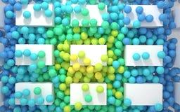 Ström av kulöra bollar Fotografering för Bildbyråer
