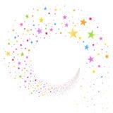 Ström av mångfärgade stjärnor royaltyfri illustrationer