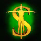 Ström av pengar Arkivbild