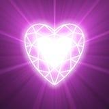 Ström av signalljuset för förälskelsehjärtalampa Arkivbilder