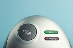 ström för batteriknappuppladdare Fotografering för Bildbyråer