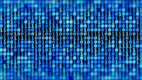 Ström för binär kod royaltyfri illustrationer