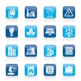 ström för elektricitetsenergisymboler Fotografering för Bildbyråer