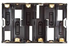 ström för tidskrift för alkaline batteri för aa Arkivfoto