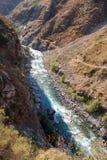 Ström i dalen av Tien Shan Royaltyfri Fotografi
