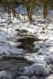 Ström i vinter Arkivbilder