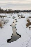 Ström i vinter Arkivbild