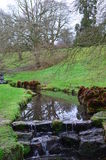 Ström med vattenfallet Arkivbild