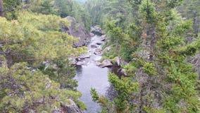 Ström upp nord i Maine Arkivfoto