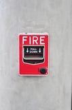 Strömbrytare för brandlarm Arkivbilder