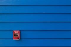 Strömbrytare för brandlarm Arkivbild