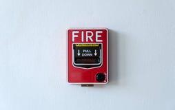 Strömbrytare för brandlarm Arkivfoto