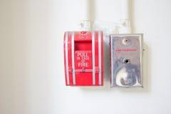 Strömbrytare för handtag för brandlarm. Royaltyfria Bilder