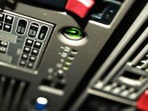 strömbrytare för server för hög ström för slut Arkivbild