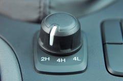 strömbrytare för väljare 4wd och 2wd Royaltyfri Foto