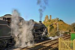 Strömdrev till och med station för Corfe bydrev royaltyfria bilder
