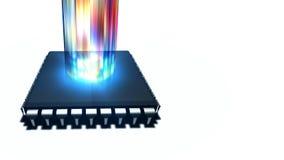 Strömen des Medien-Computer-Prozessors vektor abbildung