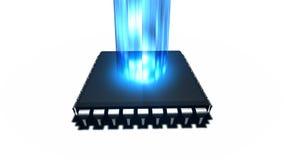 Strömen des Medien-Computer-Prozessors lizenzfreie abbildung