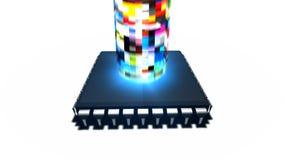 Strömen des Medien-Computer-Prozessors stock video