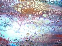 Strömende malende Flüssigkeit Stockbild