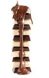 Strömende Schokolade stockbild