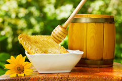 Strömender Honig stockbild