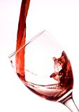 Strömender Rotwein Stockfotos