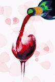 Strömender Rotwein lizenzfreies stockfoto