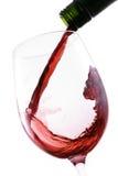 Strömender Rotwein lizenzfreies stockbild