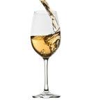 Strömender weißer Wein Lizenzfreies Stockfoto