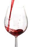 Strömender Wein Stockfoto