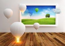 strömförande bild för ballonger Royaltyfria Bilder