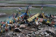 Strömförande i Lhasa royaltyfri foto
