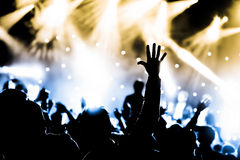 Strömförande konserten Royaltyfri Foto