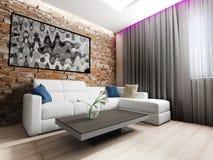 strömförande modern lokal för interior Arkivbild