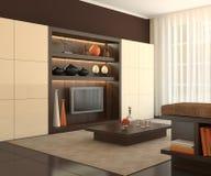 strömförande modern lokal för interior Stock Illustrationer