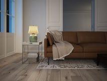 strömförande modern lokal för interior framförande 3d Royaltyfria Bilder