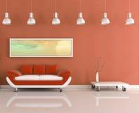 strömförande modern orange lokalwhite royaltyfri illustrationer