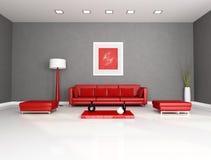 strömförande röd lokal för gray royaltyfri illustrationer