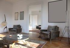 strömförande trevlig refitted lokal för lägenhet arkivbilder