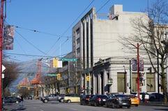 Strömförsörjning och Hasting och droger i Vancouver Arkivfoto