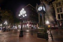 Strömklocka i Gastown, Vancouver, F. KR., Kanada Arkivfoto