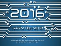 2016 strömkrets för lyckligt nytt år Royaltyfria Bilder