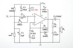strömkretsdiagram royaltyfri bild
