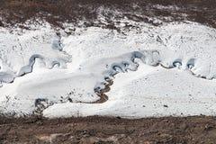 Strömmar som spolar till och med den Gorner glaciären Fotografering för Bildbyråer