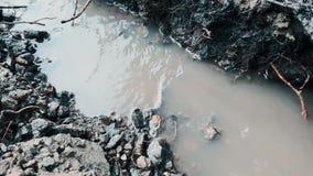 Strömmar torkar, och naturen torkar lager videofilmer
