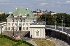 Strąka Blachy pałac w Warszawa, Polska Zdjęcie Royalty Free
