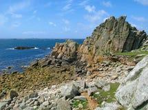 Str. Agnes und westliche Felsen, Inseln von Scilly. Lizenzfreies Stockbild