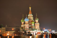 Str. Basilikum-Kathedrale [nachts] Stockfoto